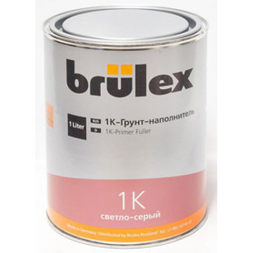 1К грунт-наполнитель светло-серый Brulex (объем 1л)