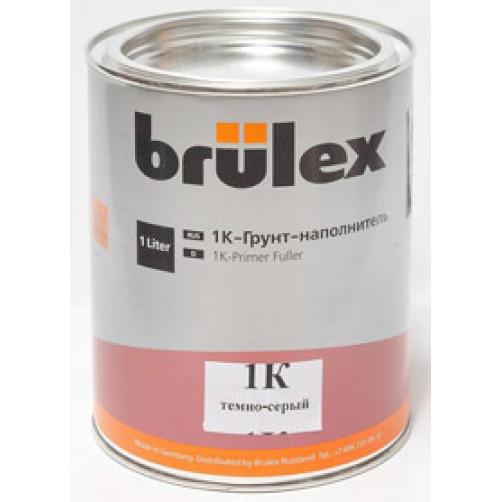 1К грунт-наполнитель темно-серый Brulex (объем 1л)