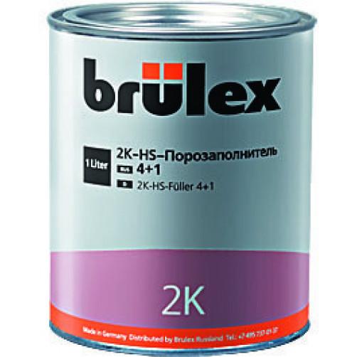 Brulex 2K-HS-Порозаполнитель 4+1 (белый) + Отвердитель быстродействующий (для порозаполнителя)