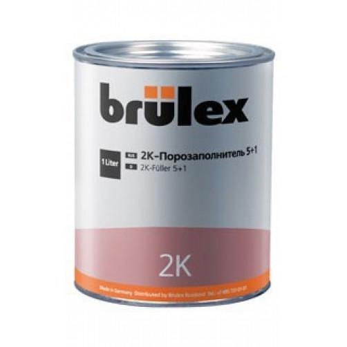 2К Порозаполнитель 5+1 с отвердителем Brulex, объем 1,0 литр + 0,2 литра
