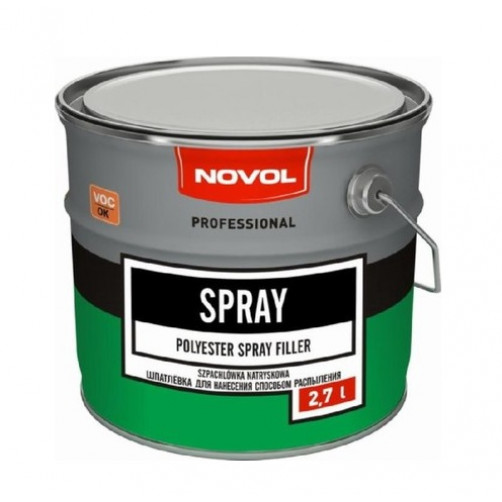 Шпатлевка автомобильная полиэфирная NOVOL Spray (жидкая), уп. 4 кг