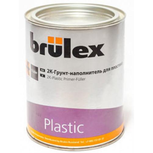 2К Грунт-наполнитель для пластика + отвердитель Brulex, объем 1л + 0,5л