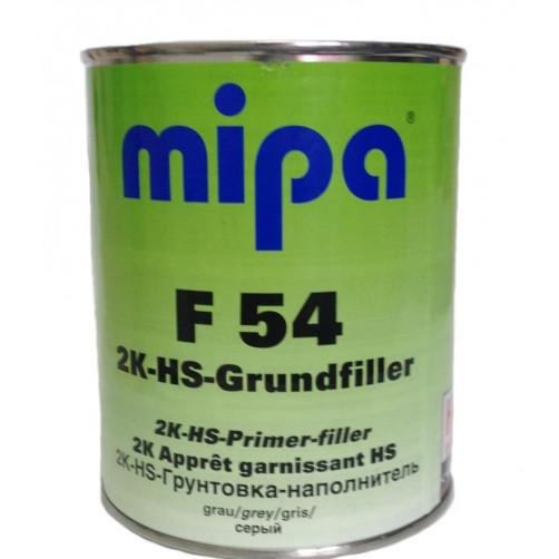 Grundfiller F54 HS 4:1 Грунт наполнитель + H5 отвердитель серый Mipa, объем 1л + 0,25л