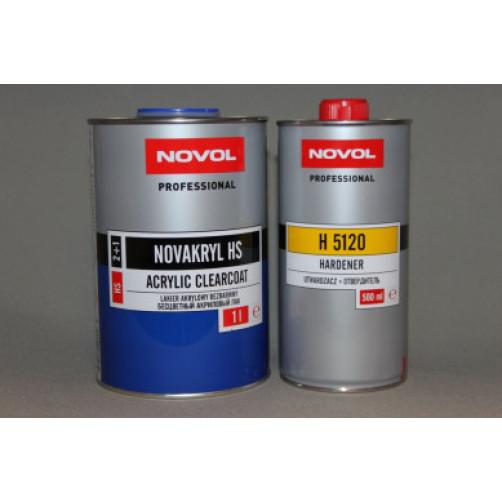 Лак автомобильный NOVOL NOVAKRYL 2+1 HS, уп. 1+0,5 л (комплект)