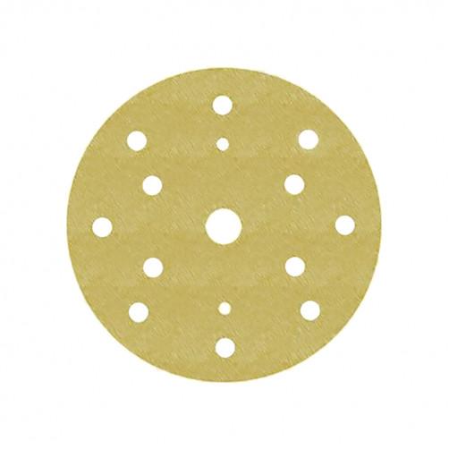 Абразивный круг 3М 255Р золот. на липучке D=150 мм с 15 отв., Р500