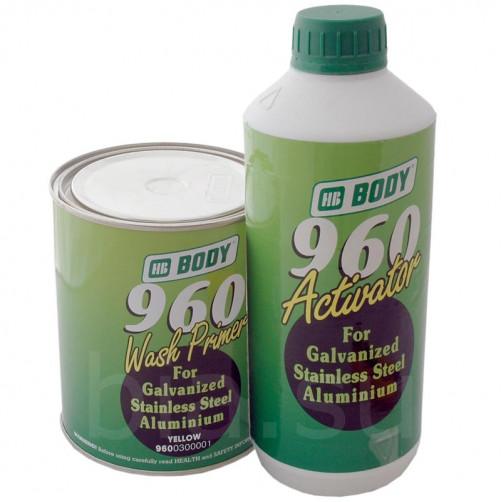 Грунт кислотный BODY 960 1:1 2К (жёлто-зелёный) с активатором, уп. 1+1л