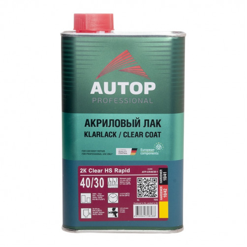 2K Clear HS Rapid Antiscratcht 40/30, лак акриловый AUTOP, уп. 1л