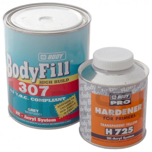 Грунт-наполнитель BODY 307 4+1 (серый) с отвердителем H725, уп. 1+0,25 л