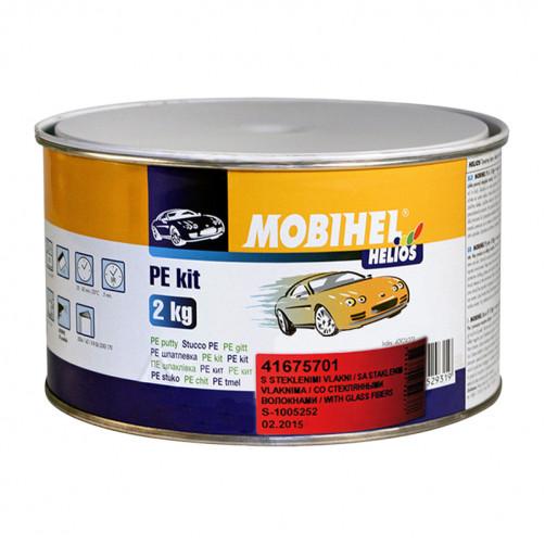 Шпатлевка автомобильная полиэфирная со стекловолокном Mobihel, уп. 2 кг