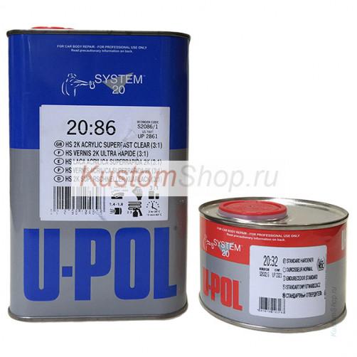 U-POL S2086 лак автомобильный HS супербыстрый 1+0,33 л