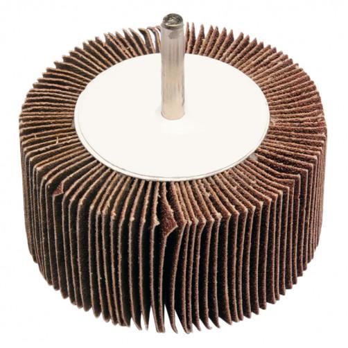 Круг лепестковый со шпинделем 80*40*6мм Р100 alox