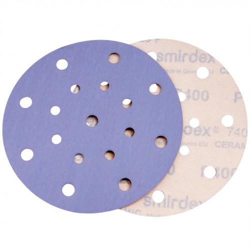 P240 Абразивный круг SMIRDEX Ceramic D=150мм, 17 отверстий