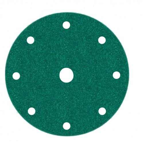 Абразивный круг 3М 245Р зелён. на липучке D=150 мм с 9 отв., Р80