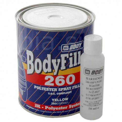 Жидкая полиэфирная шпатлевка для авто, BODY 260 (бежевый) ПЭ, уп. 1 л