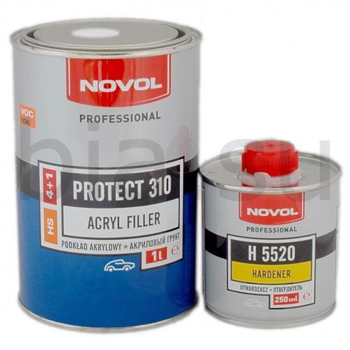 Грунт акриловый автомобильный NOVOL HS Protect 310, белый, уп. 1л+0,25л