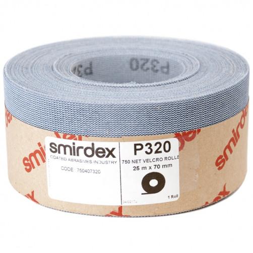 P180 Абразивная сетка в рулонах SMIRDEX Net Velcro 750, 70мм*25м