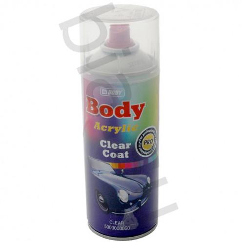Аэрозольный автомобильный лак BODY 496 Clear Coat, уп. 0,4 л (спрей)