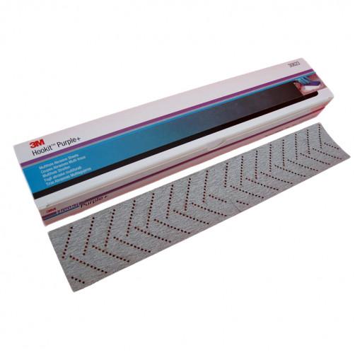 Р400 Полоска для шлифков Hookit Purple+ 3М334U на липучке 70мм*396мм с мультипылеотводом