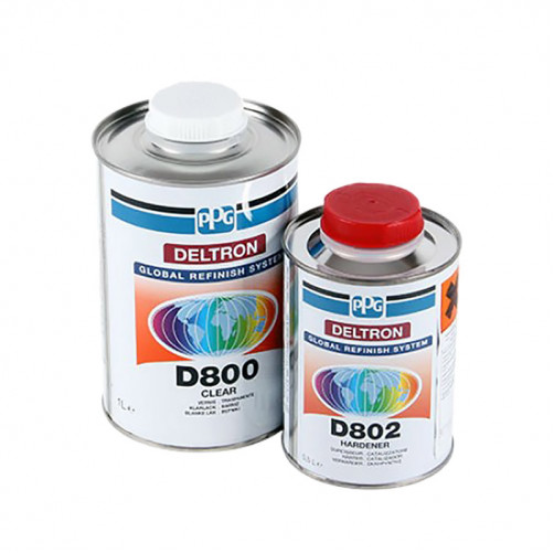 Комплект лака PPG deltron D800/E1, уп.1+0.5л