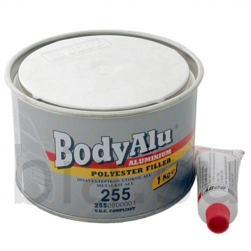 Шпатлевка автомобильная полиэфирная BODY ALU 255, уп. 1 кг