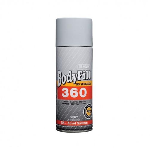 Аэрозольный грунт BODY 360 2К серый, уп. 0,4 л (спрей)