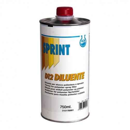 D12 Разбавитель Sprint для жидкой ПЭ шпатлевки, уп. 0,75л