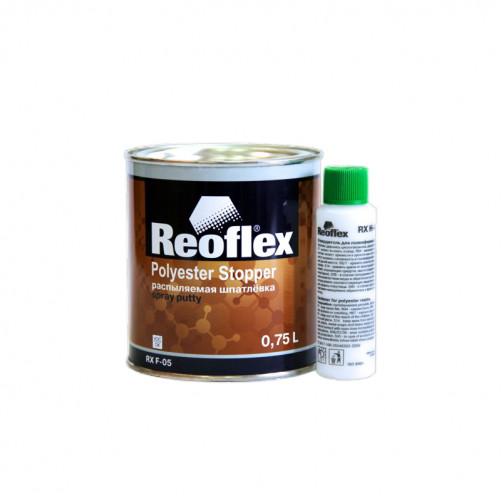 Шпатлевка распыляемая (жидкая) Reoflex Spray RX F-05 (основа+отверд.), уп. 0,75+0,05л (комплект)