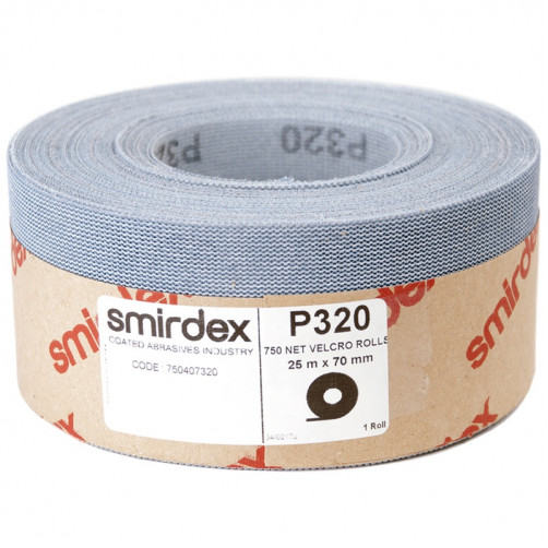 P400 Абразивная сетка в рулонах SMIRDEX Net Velcro 750, 70мм*25м