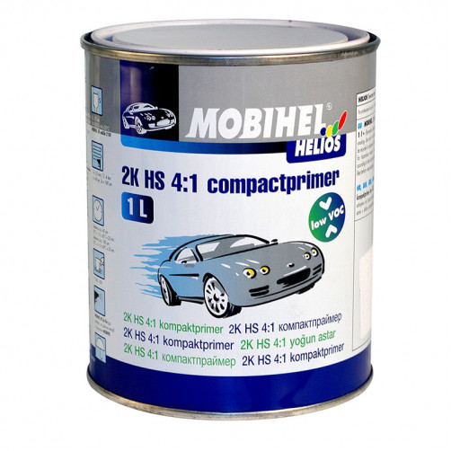 Грунт 2К HS 4+1 компактпраймер Low VOC Mobihel (серый), уп. 1л