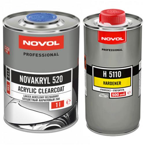 Лак автомобильный NOVAKRYL 520 VHS 2+1, уп. 1+0,5 л (комплект)