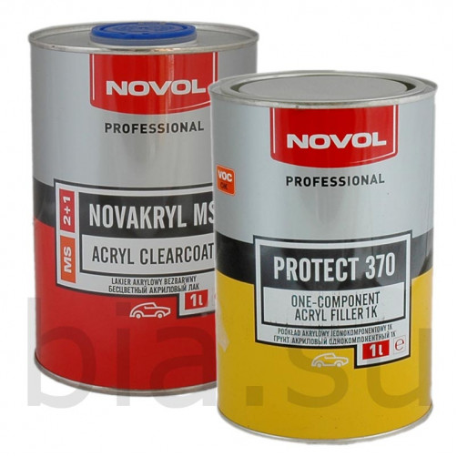 Лак автомобильный NOVOL NOVAKRYL 2+1 MS, уп. 1+0,5 л (комплект)