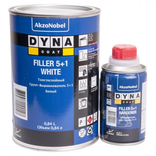 Комплект Грунт+Отвердитель Дайна Filler 5+1, белый,уп.0,84+0,16л