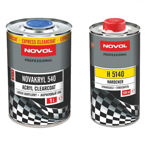 Лак автомобильный NOVOL NOVAKRYL 540 SR быстрый, 2+1, уп. 1+0,5 л (комплект)