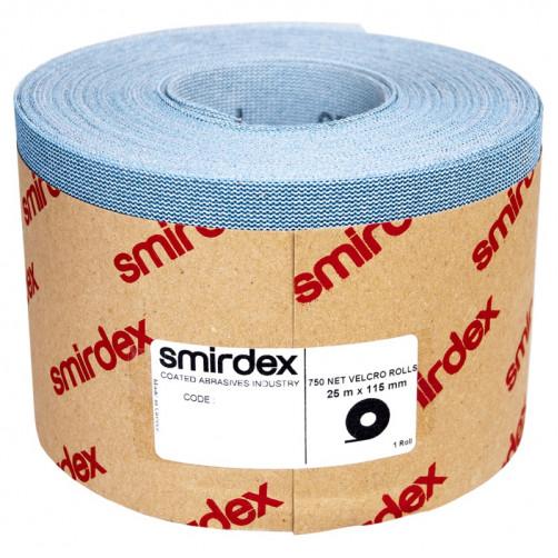 P180 Абразивная сетка в рулонах SMIRDEX Net Velcro 750, 115мм*25м