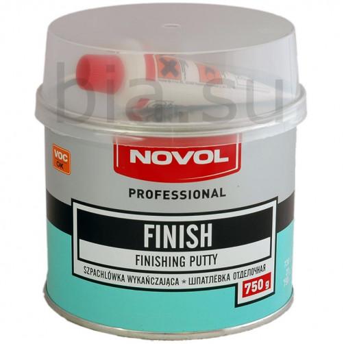 Шпатлевка автомобильная полиэфирная отделочная NOVOL Finish, уп. 0,75 кг