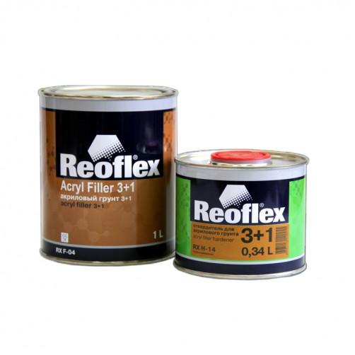 Грунт акриловый 2K 3+1 Reoflex (серый) уп. 1+0,33л (комплект)
