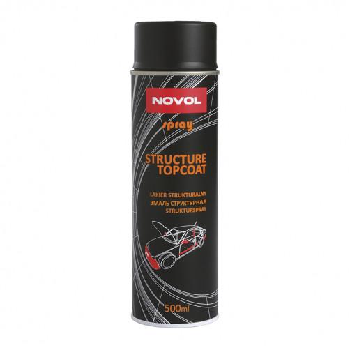 Структурный лак NOVOL FLASH 900 чёрный 1К аэрозоль, уп. 0,5л