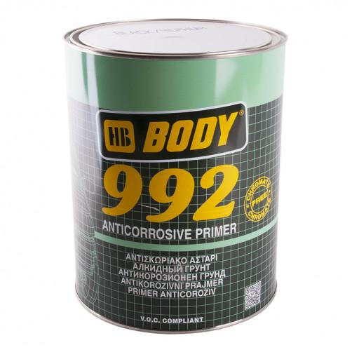 Грунт антикоррозионный для авто, BODY 992 1К (чёрный), уп. 5 кг