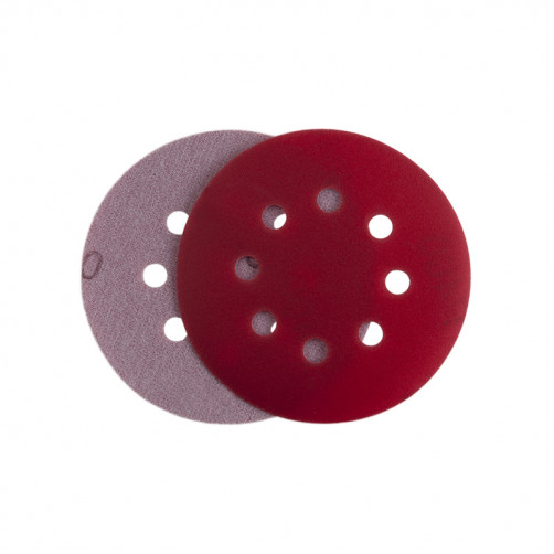 P 150 Абразивный круг IFILM Red ISISTEM, D=125мм, 8 отверстий