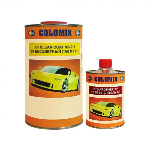 2К бесцветный автомобильный лак 2+1 MS Colomix, уп. 1л + 0,5л