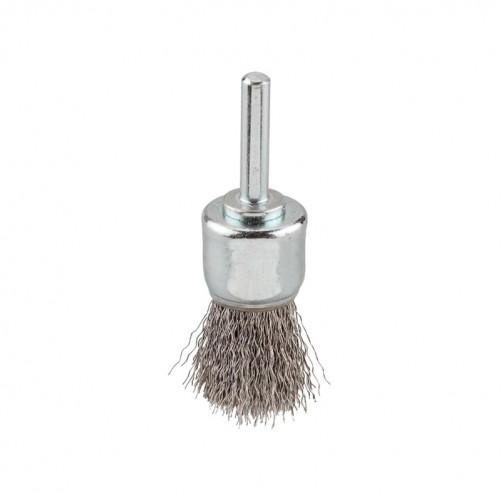 Щетка для дрели кисть металлическая с гофрированной проволокой d24*6мм