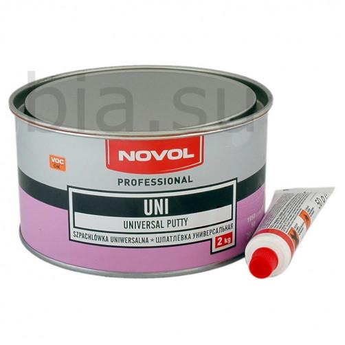 Шпатлевка автомобильная полиэфирная универсальная NOVOL Uni, уп. 2 кг