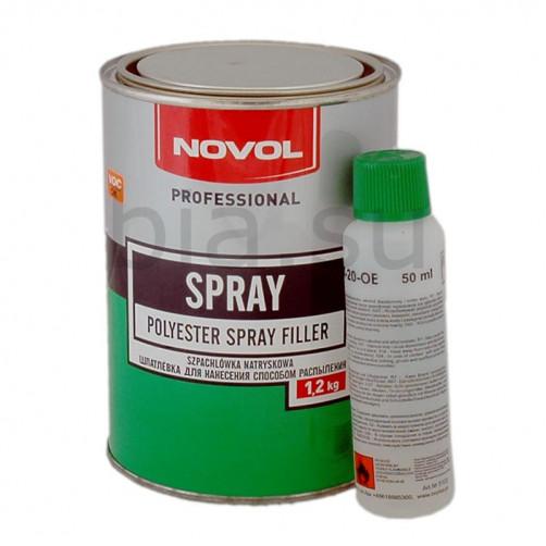 Шпатлевка автомобильная полиэфирная NOVOL Spray (жидкая), уп. 1,2 кг