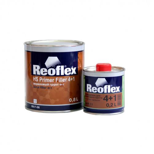 Грунт акриловый 2K 4+1 Reoflex (черный) уп. 0,8+0,2л (комплект)