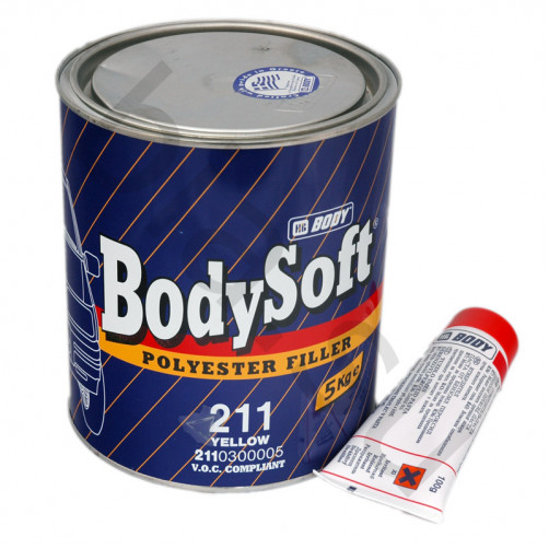 Шпатлёвка автомобильная полиэфирная BODY 211 SOFT, уп. 5 кг