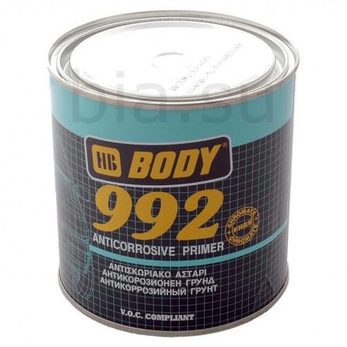 Грунт антикоррозионный для авто, BODY 992 1К (коричневый), уп. 1 кг