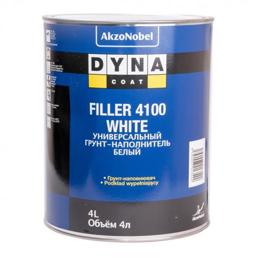 Комплект Грунт+Отвердитель Дайна Filler 4100, белый, уп.4,0л+1,0л