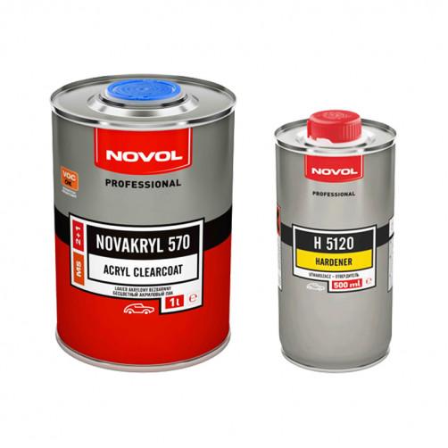 Лак автомобильный NOVOL NOVAKRYL 570 MS 2+1, уп. 1+0,5 л (комплект)