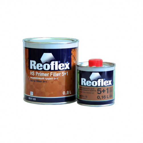 Грунт акриловый 2K 5+1 Reoflex (серый) уп. 0,8+0,16л (комплект)