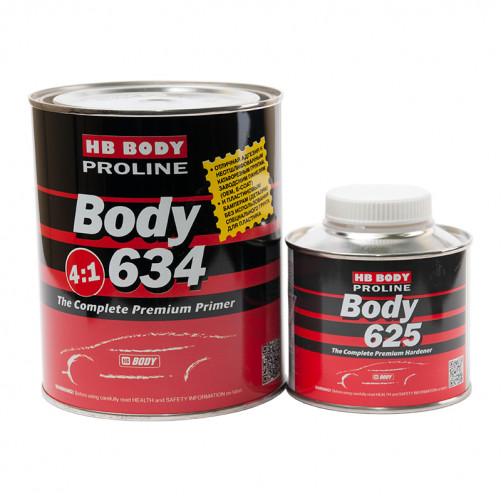 Грунт-наполнитель акриловый для авто BODY PROLINE 634 HS 4+1 с отвердителем BODY 625, уп. 0,8+0,2л